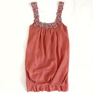 BCBGMaxAzria Silk Bubble Skirt Dress
